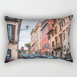 Streets of Rome   Europe Italy City Urban Street Photography Rectangular Pillow