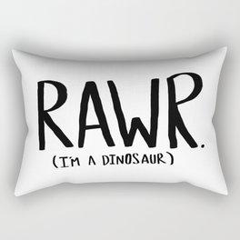 Rawr. I'm a Dinosaur Rectangular Pillow