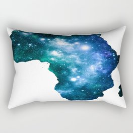 Africa Universe Blue Green Rectangular Pillow