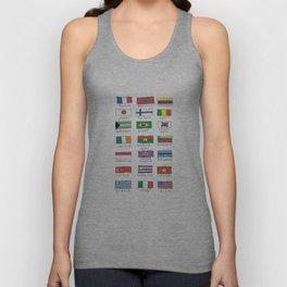 World traveler flags Unisex Tank Top