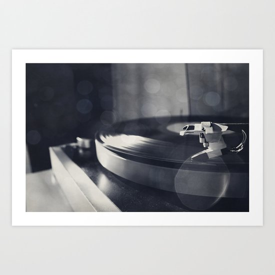 from time to time i like listening to an old record Art Print