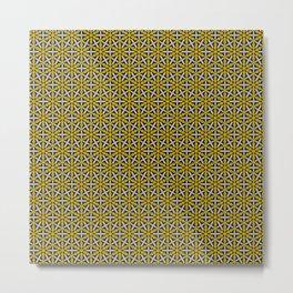 Bubble String Art Deco Gold Silver Copper Black Design Pattern Metal Print