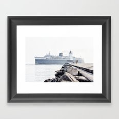 Badger Car Ferry - Ludington Michigan Framed Art Print