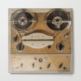 Vintage tape sound recorder reel to reel Metal Print