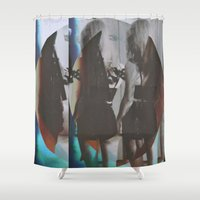 twins Shower Curtains featuring Twins by Jane Lacey Smith