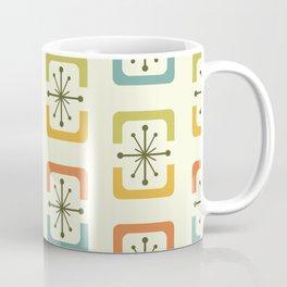 Mid Century Modern Starburst Shells Chartreuse Coffee Mug