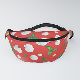 the real Italian pizza pattern backgroun Fanny Pack