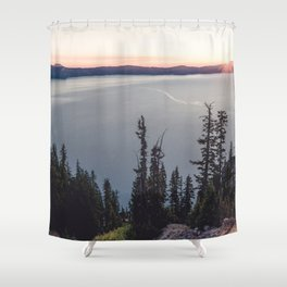 Lakeside Sunrise Shower Curtain