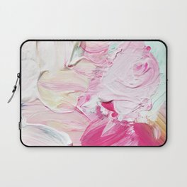 Minty Rose (Abstract Painting) Laptop Sleeve
