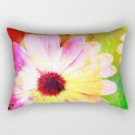 Making art with flower - original Rectangular Pillow