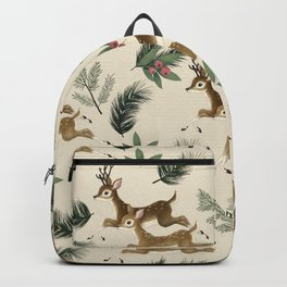 winter deer // repeat pattern Backpack