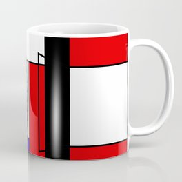 cat Mondrian Coffee Mug