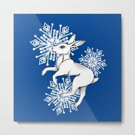 Arctic Hare Metal Print