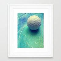 golf Framed Art Prints featuring GOLF by Yilan