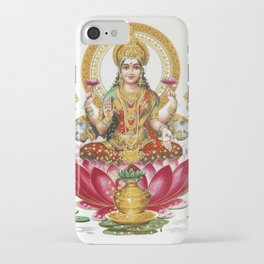 Hindu Goddess Lakshmi Poster Print  Indian Asia Yoga Meditation iPhone Case