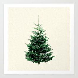 Christmas tree, a stylish alternative to a traditional one. Art Print