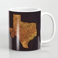 texas Mugs featuring Texas by Taylor Wilson Graphics