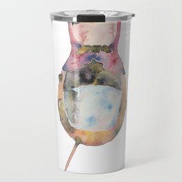 Watercolor Matryoshka Travel Mug