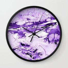 Violet Marbling drawing brush Wall Clock