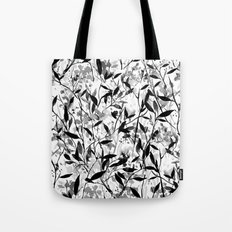 Wandering Wildflowers Black and White Tote Bag