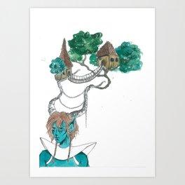 Forest elf Art Print