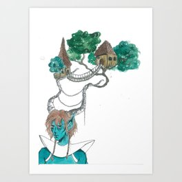 Forest elf Art Print