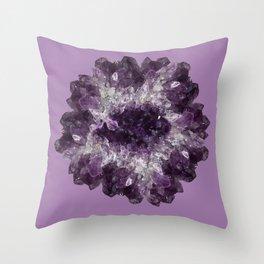 Amethyst Asteroid Throw Pillow