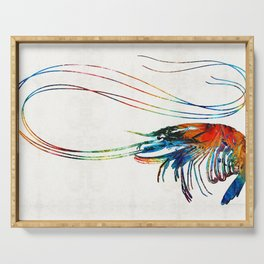 Colorful Shrimp Art by Sharon Cummings Serving Tray
