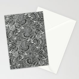 Lace in Black and White Stationery Cards