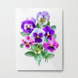 Bouquet of violets II Metal Print