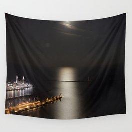Navy Pier Moonlight Wall Tapestry