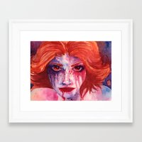blood Framed Art Prints featuring Blood by Diego Munhoz