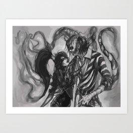 Beetlejuice&Lydia Art Print