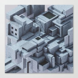 Abstract_cubes_1 Canvas Print