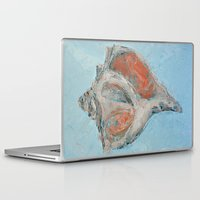 florida Laptop & iPad Skins featuring Florida Conch by Ann Marie Coolick
