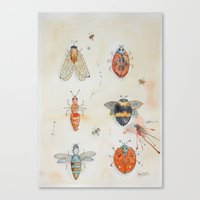 bees Canvas Prints featuring Bees by ASA Design