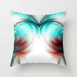 abstract fractals mirrored reac2si Throw Pillow