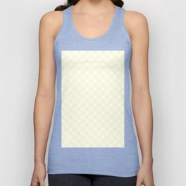 White and Cream Yellow Checkerboard Unisex Tank Top
