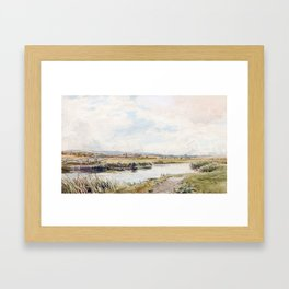 Thomas Collier (1840-1891) On the Rother Framed Art Print