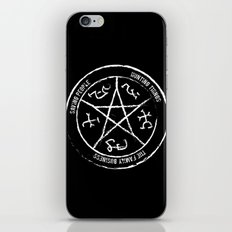 Supernatural's Devil's Trap (white on black) iPhone Skin