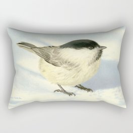 Chilly Chickadee Rectangular Pillow