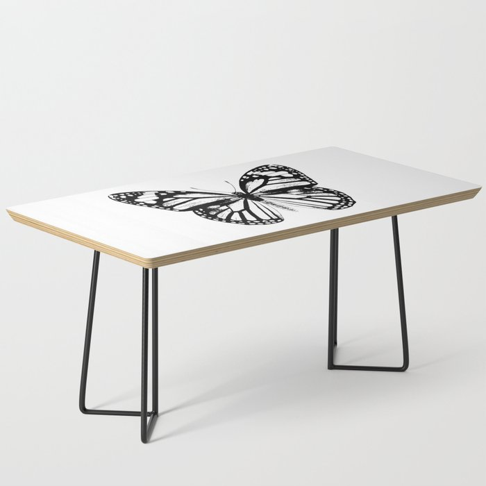 Monarch Butterfly | Vintage Butterfly | Black and White | Coffee Table