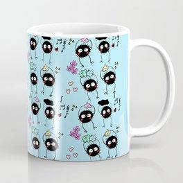 Hand Painted Dust Bunnies (susuwatari) Coffee Mug