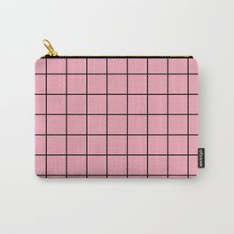 Pink Grid Carry-All Pouch