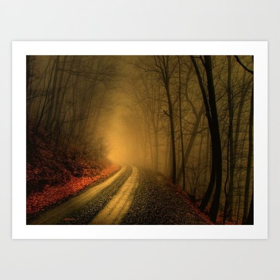 The Road to Saddle Mountian Art Print