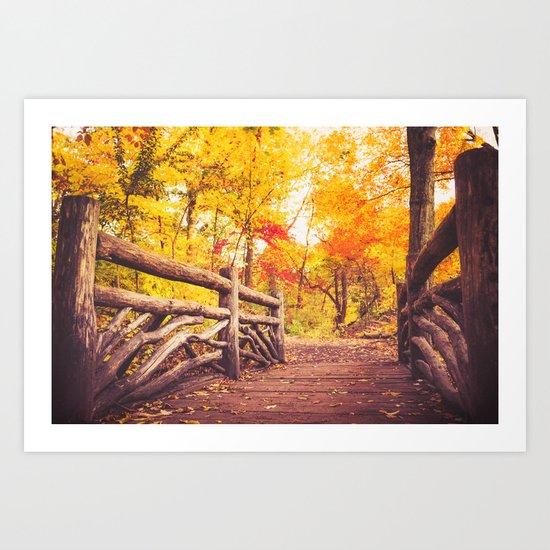 New York City Autumn in Central Park Art Print