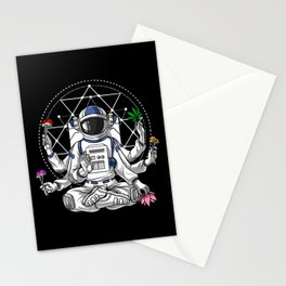 Psychedelic Astronaut Psychonaut  Stationery Cards