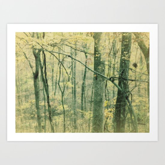 the other side of autum Art Print