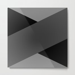 Gray Letter Day Metal Print