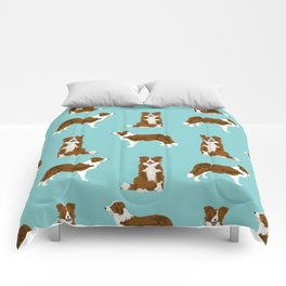 Border Collie red coat dog breed pet friendly gifts for collie lovers Comforters